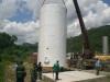 Tanque industrial vertical para almacenamiento de combustible, capacidad 60.000 lts